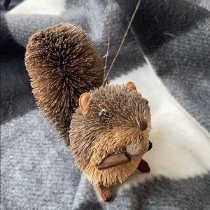 Bottle Brush Squirrel Ornament